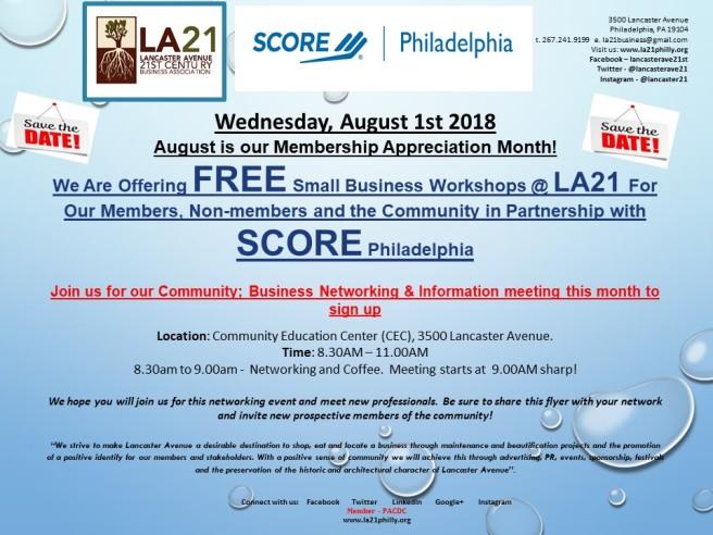 2018 LA21 INVITATIONS August