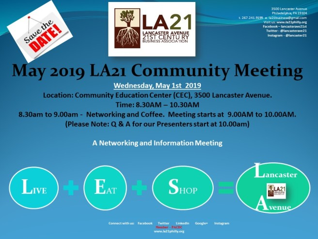 2019 MAY Community Meeting