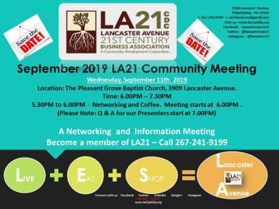 2019 September Community Meeting